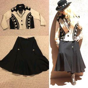 Vintage concho western skirt